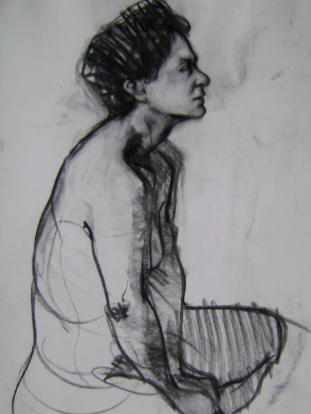 Angela 24x46 charcoal sold