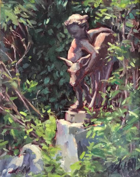 "Camden Library Cupid 16x20"" oil"