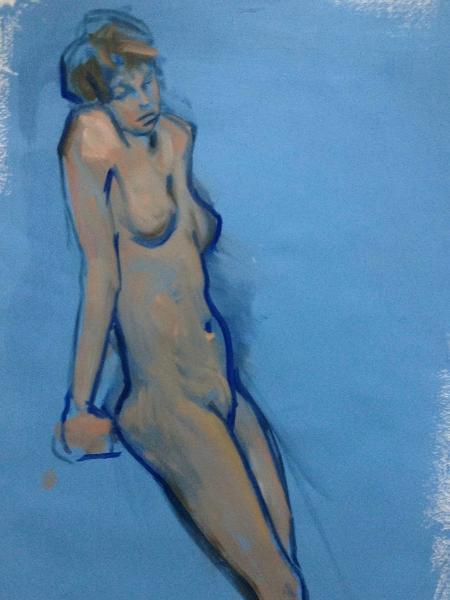 "Day dream  18x24"" oil on paper"
