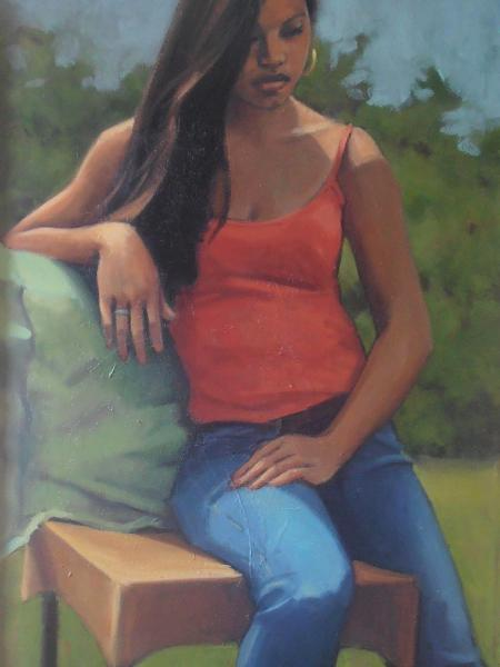 "Island Girl 24x46"" oil sold"