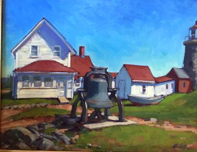 """The Bell at the Lighthouse 24x30"""" oil"""