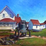 "The Bell at the Lighthouse 24x30"" oil"