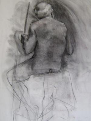 Seated Male 30x40 charcoal