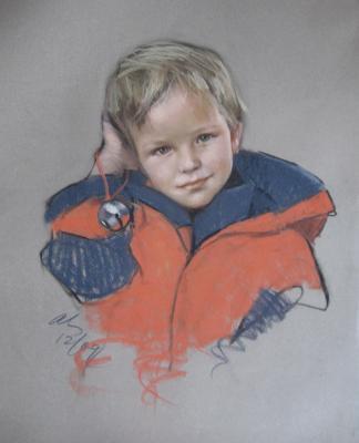 """Wyatt 18x24"""" pastel"""