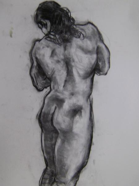 "Standing Male 24x36"" charcoal"