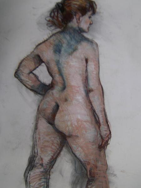 "Standing Female 30x48"" pastel"