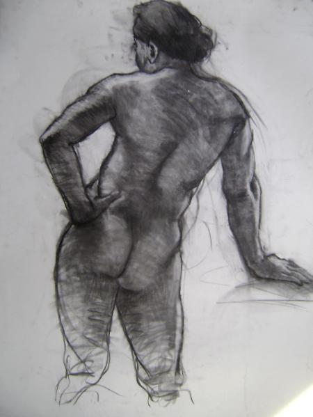 """Standing Male 30x40"""" charcoal"""