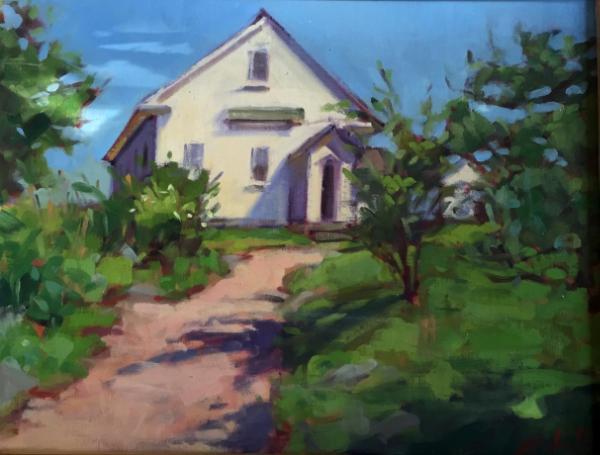 Monhegan Schoolhouse 12x16