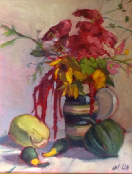 "Autumn Still Life 14x18"" oil"