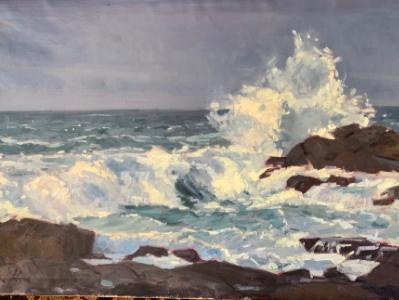 "Stormy Sea 24x36""oil"