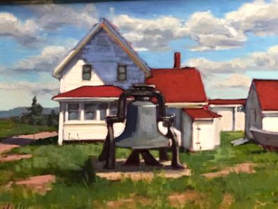 "Lighthouse on Monhegan 18x24"" oil"