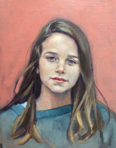 "Girl 12x16"" oil"