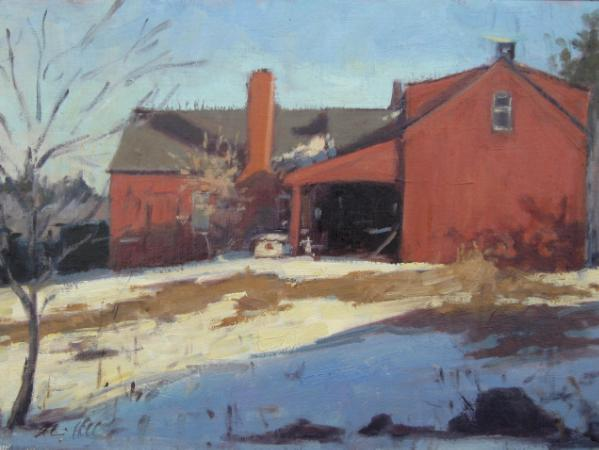 "Triscott House 12x16"" oil  sold"