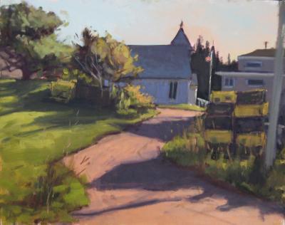 Monhegan Church  16x20  sold