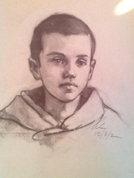 """Young Boy  16x20"""" charcoal"""