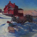 "The Red House in Winter 20x30"" oil sold"
