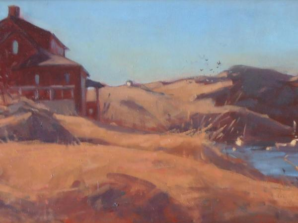 "Red House in March 12x24"" oil sold"
