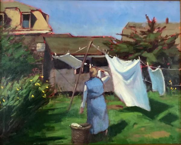 "Laundry Day 16x20"" oil sold"