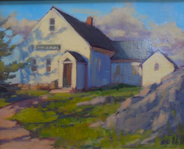 "Monhegan School  11x14"" oil sold"