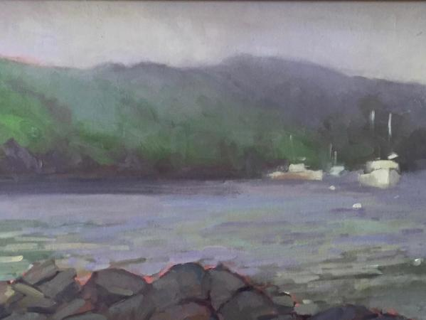 "Fog over Manana 12x24"" oil"