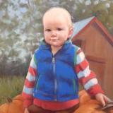 """Pumpkin Patch Baby 18x24"""" pastel"""