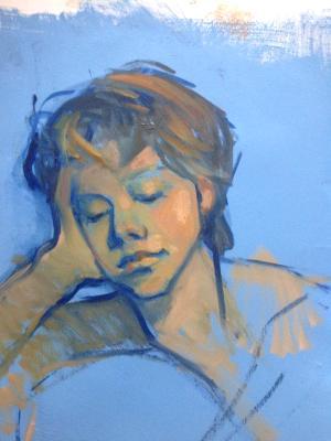 "Katherine 16x20"" oil on paper"