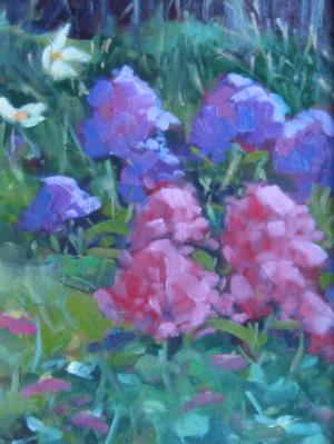 "George's Flowers  9x12"" oil sold"