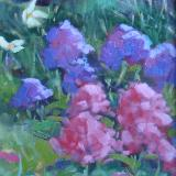 """George's Flowers  9x12"""" oil sold"""