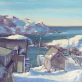 "Winter Dock 16x20"" oil sold"
