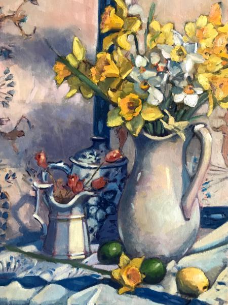 "Daffodils 18x24"" oil"