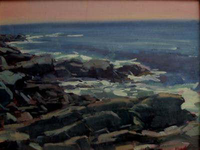 """Lobster Cove Rocks  18x24"""" oil"""