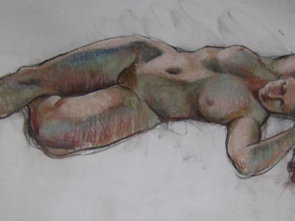 Sleep 24x48 pastel