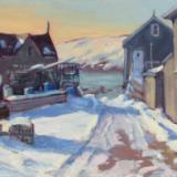 "Snowy Road 16x20"" oil sold"