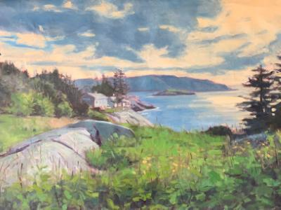 "North End Monhegan 24x36""oil"