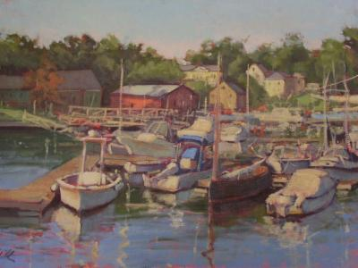 "Camden Harbor oil 24x36"" sold"