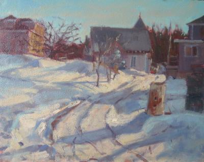 Christmas 16x20 oil sold