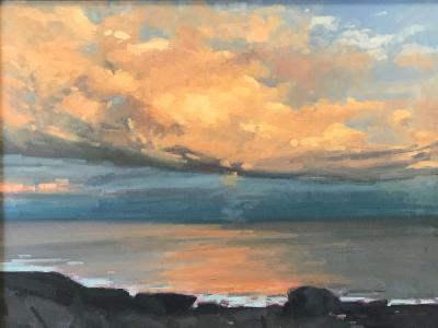 "Sunset Clouds 1 18x24"" oil"